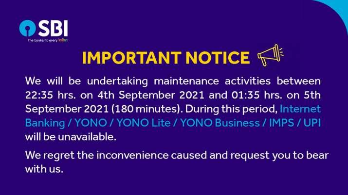 SBI ग्राहकों के लिए बड़ी खबर, इंटरनेट बैंकिंग, UPI, YONO सेवाएं 3 घंटे बंद रहेगी