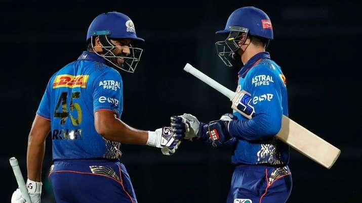 IPL 2021 CSK vs MI Mumbai indians vs Chennai Super Kings in the first half Kieron Pollard Ambati Ray