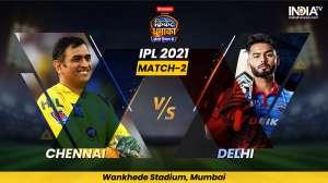 IPL VIVO 2021 2nd Match Chennai Super Kings vs...- India TV Hindi