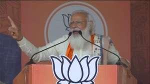 बंगाल चुनाव: नादिया में पीएम मोदी ने कहा-'हार निश्चित देख दीदी अब पुराने खेल पर उतर आई हैं'- India TV Hindi