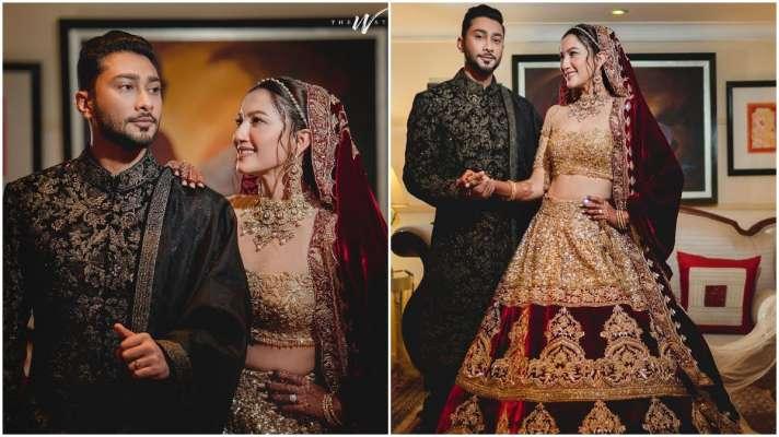 gauahar khan shared reception pictures with zaid darbar on social media - गौहर खान ने जैद दरबार से किया निकाह, सोशल मीडिया पर शेयर की खूबसूरत तस्वीरें - India TV Hindi News