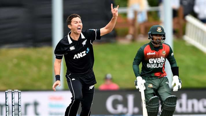 New Zealand beat Bangladesh in the first ODI nz vs ban due to the fatal  bowling of Trent Boult dunedin - बोल्ट की घातक गेंदबाजी से न्यूजीलैंड ने  पहले वनडे में बांग्लादेश