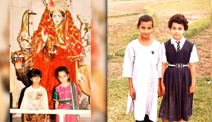 कंगना रनौत ने शेयर की 'स्कूल के दिनों' की अनदेखी तस्वीर, बचपन की ये फोटो भी  हुई वायरल-kangana ranaut childhood pics From school picnic to a temple  premises instagram post - India