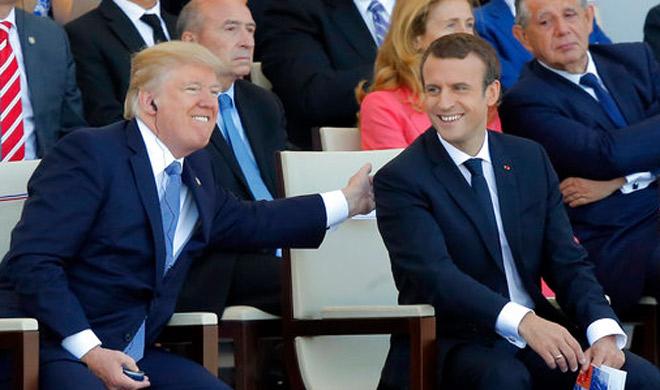 Donald Trump and Emmanuel Macron | AP Photo- India TV Hindi