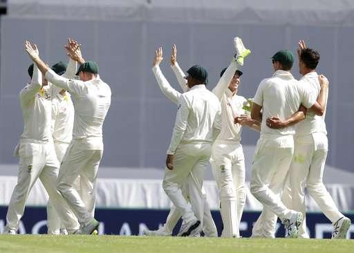 Australia celebrate the wicket of Jonny Bairstow- India TV