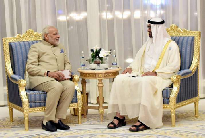 PM Modi in Abu Dhabi with crown prince Mohamed bin Zayed Al Nahyan- India TV Paisa