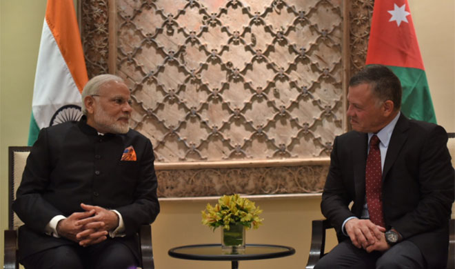 PM Modi meets King Abdullah II of Jordan- India TV Hindi