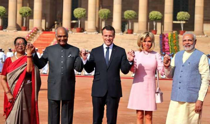Emmanuel-Macron-hold-talks-with-PM-Modi-in-Hyderabad-House- India TV Hindi