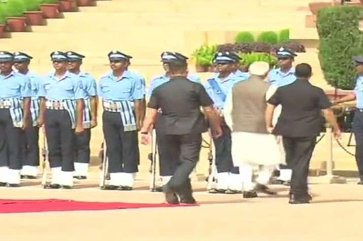PM Narendra Modi inquires about health of IAF guard who collapsed at Rashtrapati Bhavan | ANI Photo- India TV