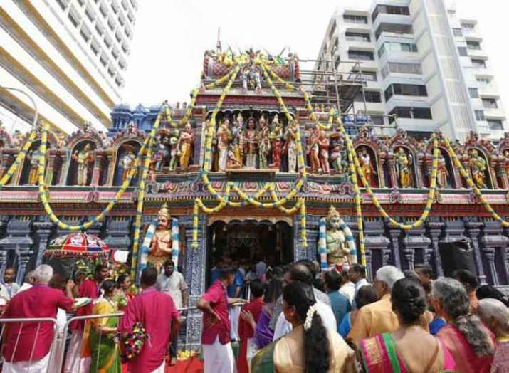 Singapore Reinstatement of 148-year-old Hindu temple...- India TV