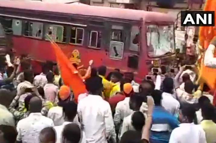 Maratha Reservation have turned violent, with protestors...- India TV