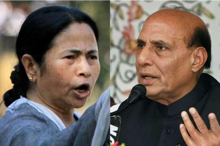Mamata Banerjee and Rajnath Singh | PTI Photo- India TV