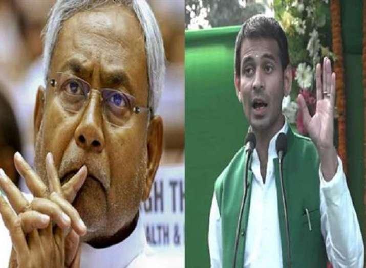 नीतीश के लिए 'नो एंट्री' का बोर्ड लगाना चाहते हैं तेजप्रताप, जदयू-भाजपा ने की निंदा- India TV