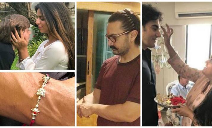Shah Rukh Khan, Salman Khan and Aamir Khan family Raksha Bandhan 2018 celebration- India TV