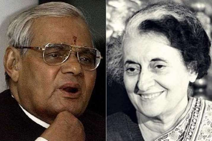 Atal Bihari Vajpayee and Indira Gandhi   PTI- India TV
