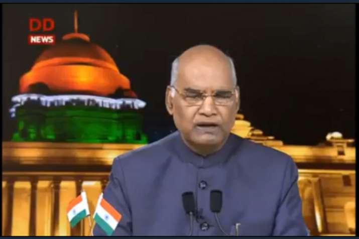 President Kovind live speech- India TV