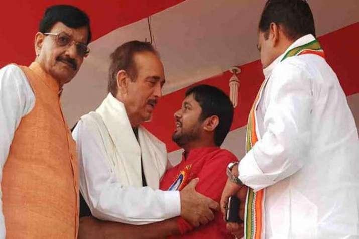 ghulam nabi azad and kanhaiya kumar- India TV