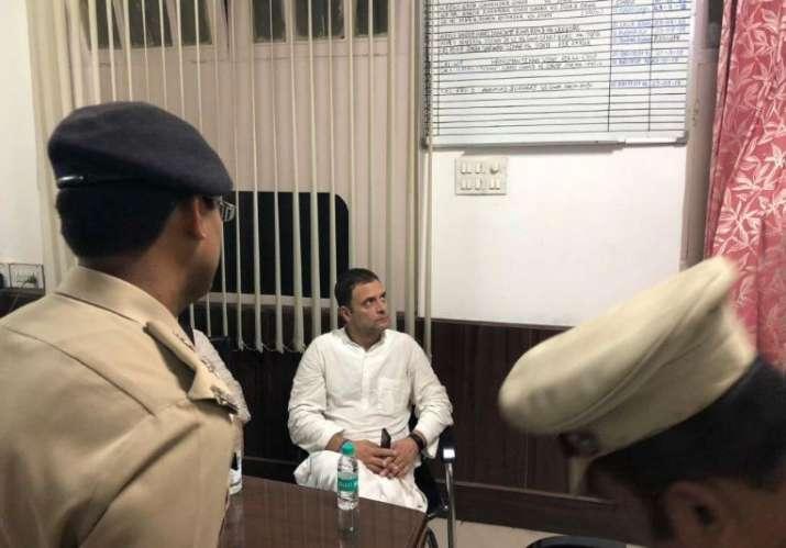 Rahul Gandhi at Police Station- India TV Hindi