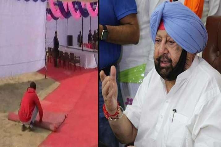 Red carpets put near blast site ahead of CM Amarinder...- India TV Hindi