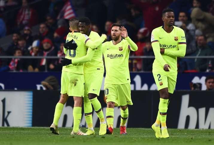 La Liga: डेम्बेले का लेट गोल, बार्सिलोना ने एटलेटिको मेड्रिड से खेला रोमांचक ड्रॉ- India TV Hindi