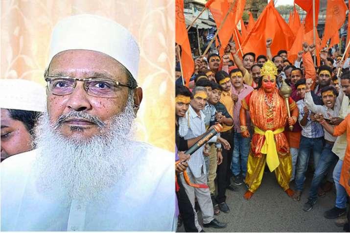 AIMPLB general secretary Maulana Wali Rahmani and Vishwa Hindu Parishad activist in Mirzapur   PTI- India TV