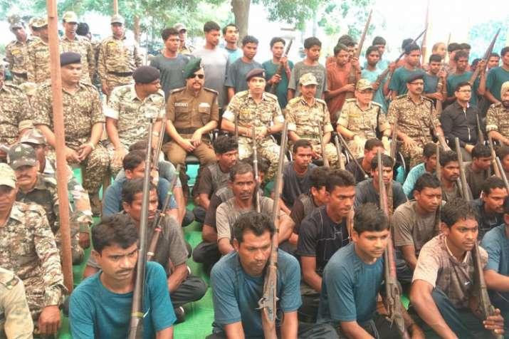 Naxal Surrender in Chhattisgarh (Photo Credit ANI)- India TV