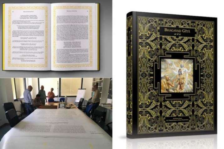 800 kg iskcon bhagvad gita to be largest sacred text pm modi to unveil in delhi- India TV