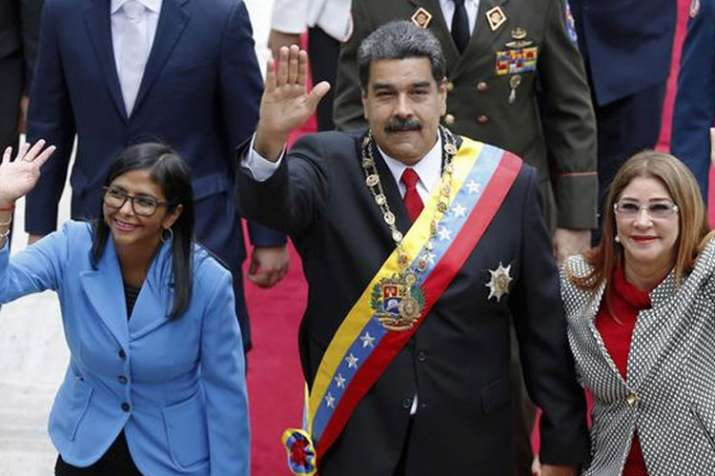 Nicolas Maduro with Vice President Delcy Rodriguez (left) | AP File Photo- India TV
