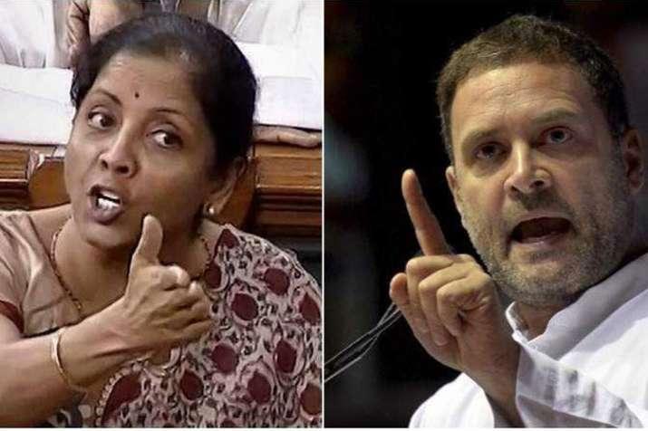 Nirmala Sitharaman and Rahul Gandhi- India TV