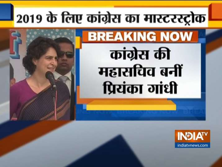 Priyanka Gandhi made Congress General Secretary ahead of Lok Sabha Polls- India TV