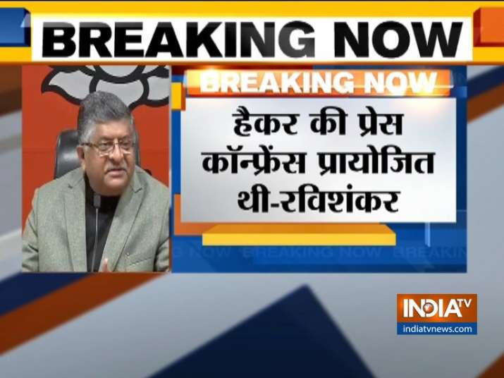 Ravi Shankar Prasad Statement on EVM Hacking - India TV
