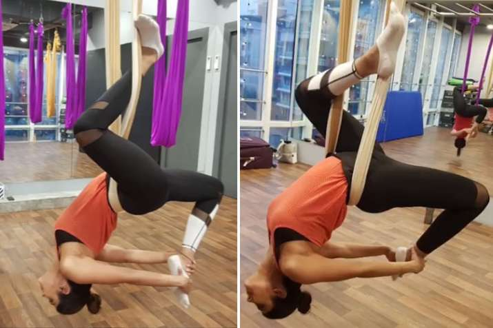 shilpa shetty aerial yoga,- India TV