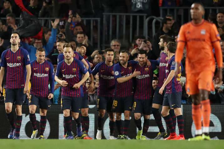 Champions League: Lionel Messi runs the show as Barcelona thrash Lyon 5-1- India TV