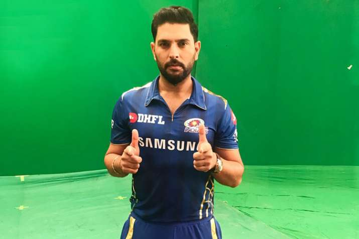 Yuvraj Singh first ball at MI's net practice- India TV