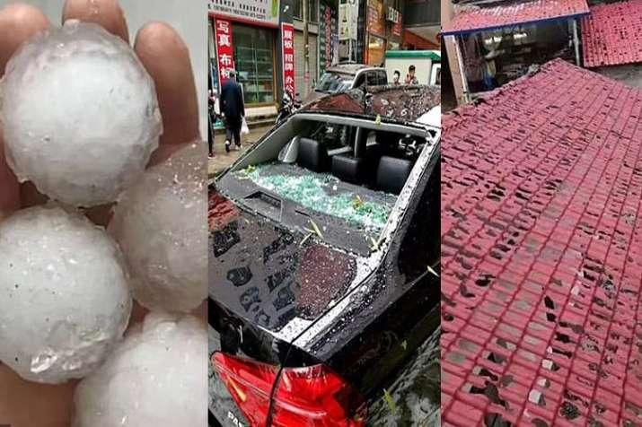 Huge hailstones hammered Chinese county- India TV Hindi