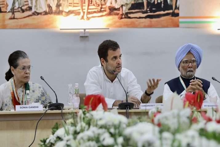 Congress President Rahul Gandhi, senior party leaders...- India TV