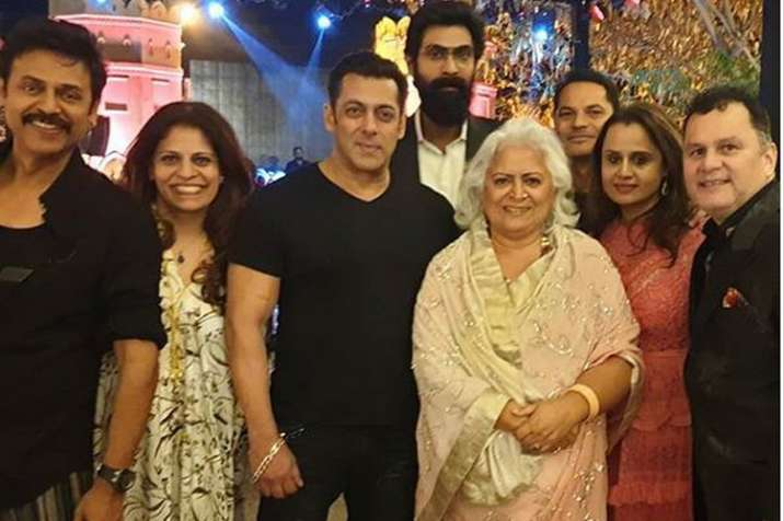 Salman Khan and Rana Daggubati attend Telugu star Venkatesh's daughter's wedding in Jaipur- India TV