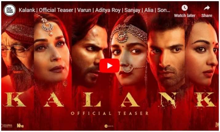 Teaser of kalank- India TV