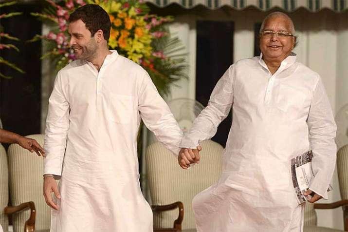 Rahul Gandhi with Lalu Yadav- India TV