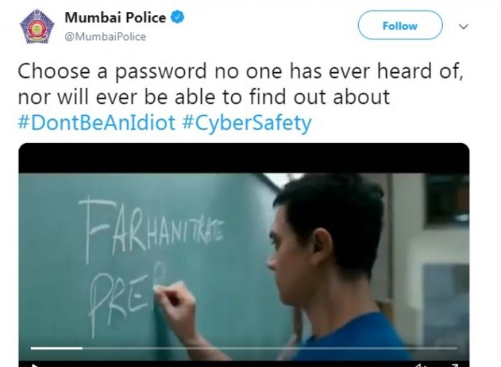 Mumbai police tweet's screenshot- India TV Hindi