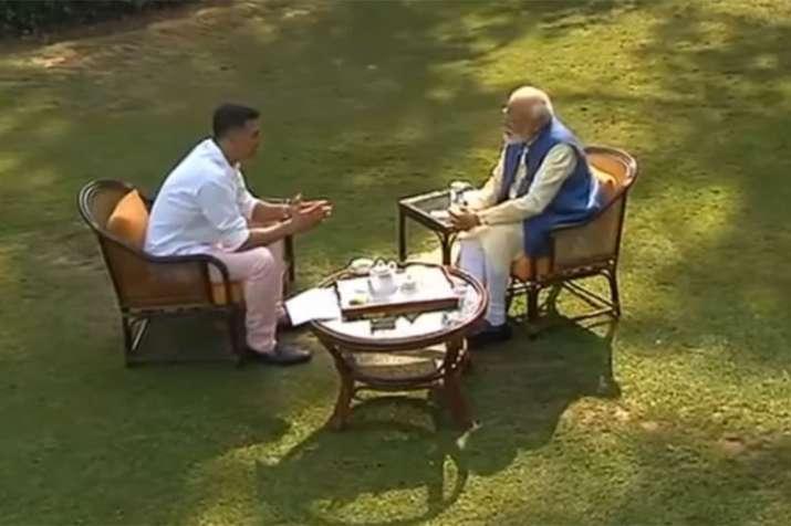 Akshay Kumar interview with PM Narendra Modi | ANI- India TV Hindi