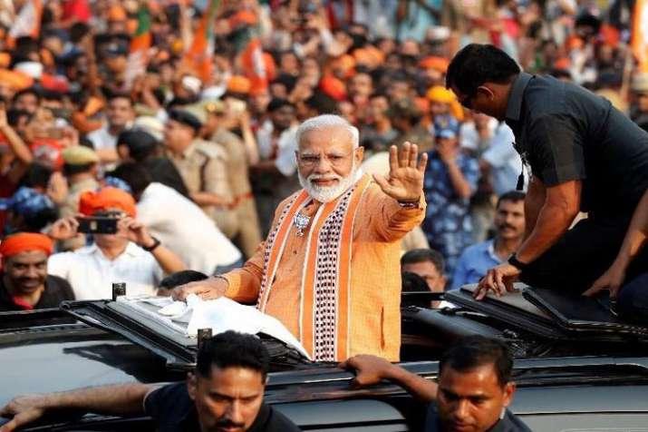 PM Modi's Varanasi Mega Road Show pictures - India TV Hindi