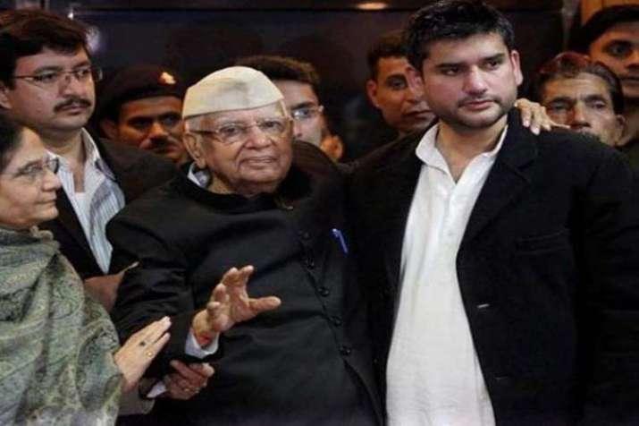 ND Tiwari and Rohit Shekhar Tiwari File Photo- India TV