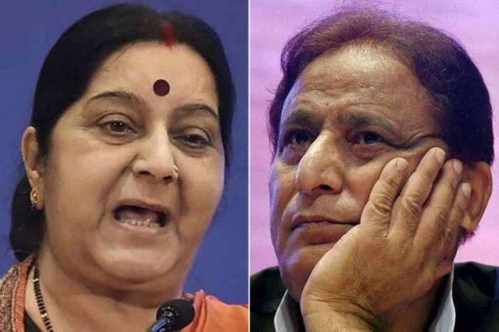 Sushma Swaraj and Azam Khan   PTI File- India TV