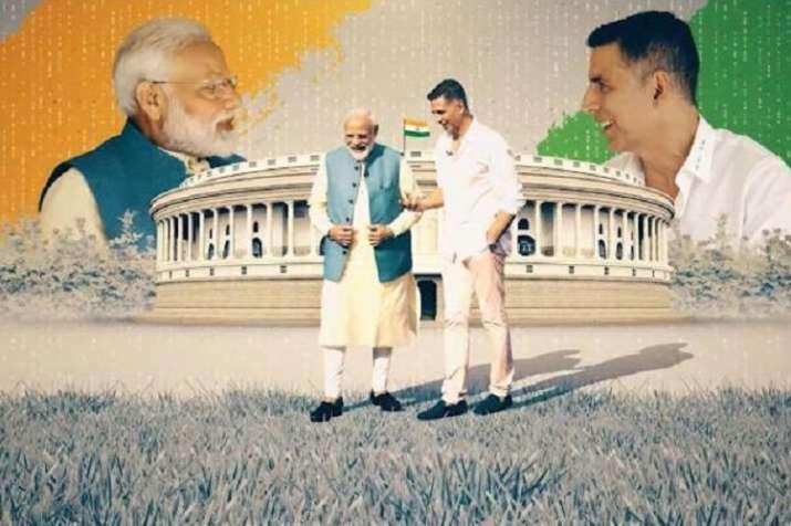Akshay kumar has done video interaction with Pm Modi- India TV Hindi