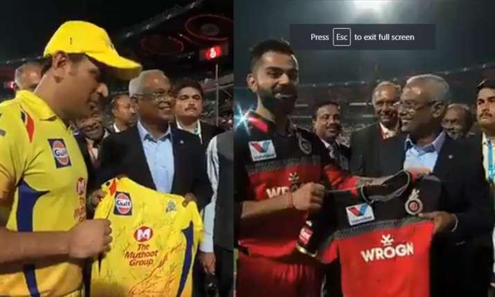 Virat Kohli MS Dhoni Maldive Prime Minister Ibrahim Mohamed Solih M ChinnaSwamy Stadium IPL 2019- India TV