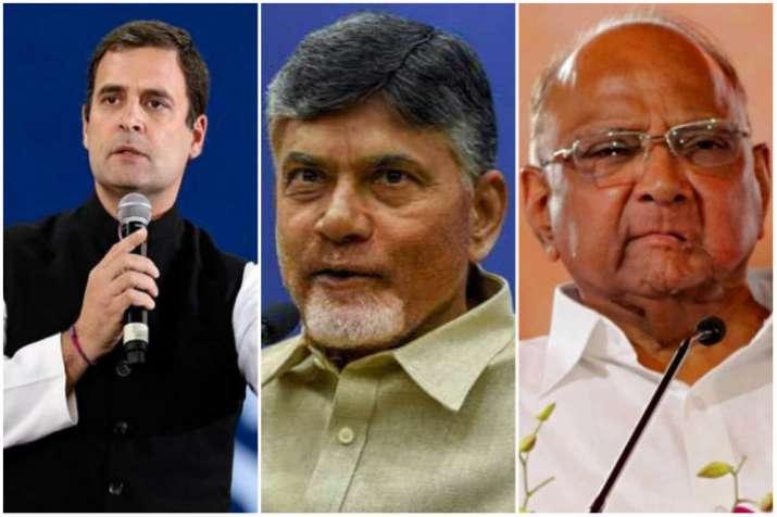 CM N Chandrababu Naidu meets Rahul Gandhi and Sharad...- India TV