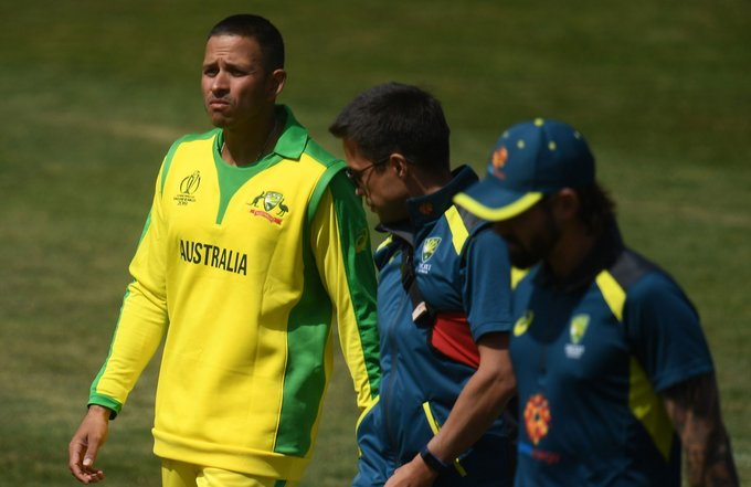 Usman Khawaja has been taken to hospital for scans on his jaw after he retired hurt in Australia's p- India TV