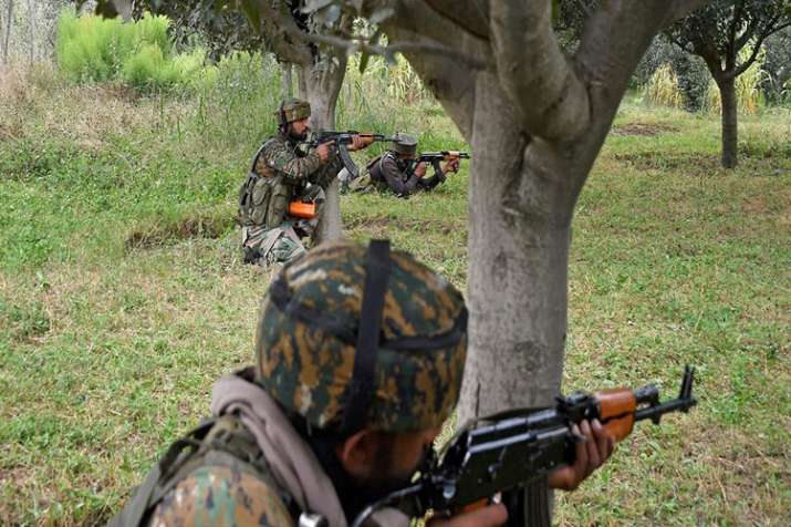 2 terrorists killed in Hind Sita Pora area of J-K's Shopian- India TV