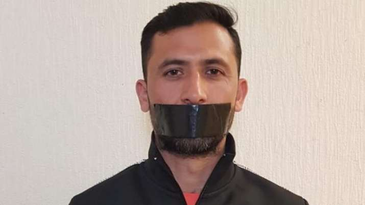 Junaid Khan protested to take him out of World Cup Squad by clamping a black bar on his face- India TV Hindi